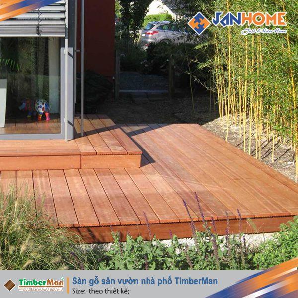 Sàn gỗ sân vườn nhà phố TimberMan