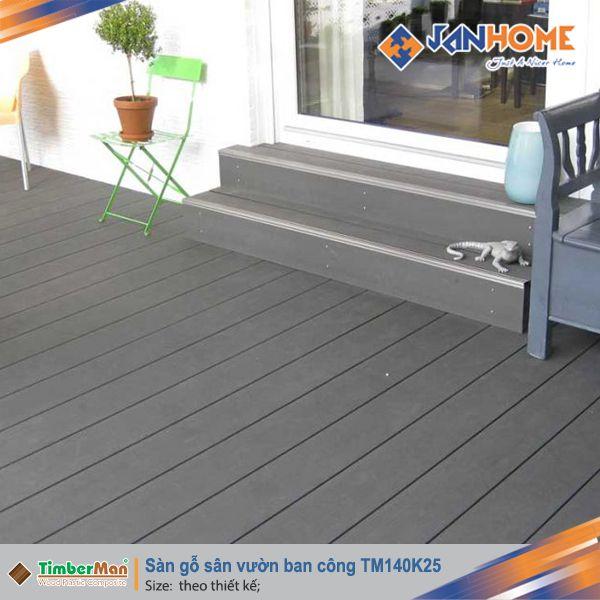 Sàn gỗ sân vườn ban công TM140K25