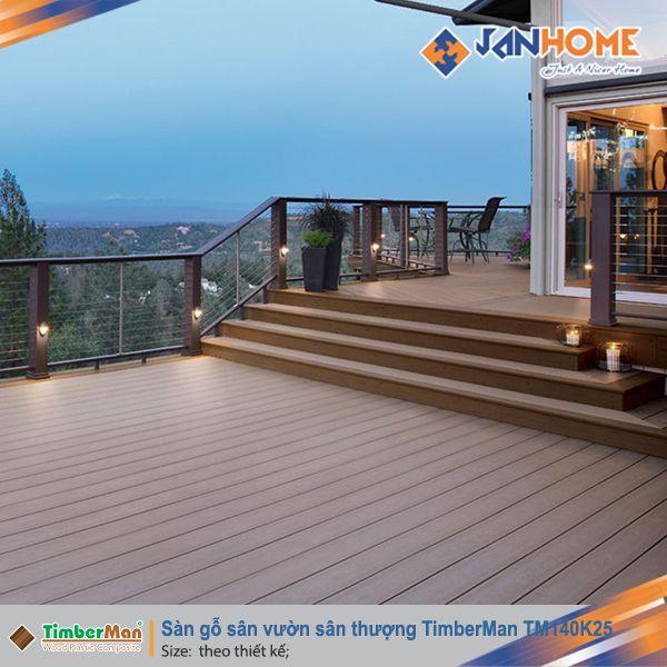 Sàn gỗ sân vườn sân thượng TM140K25