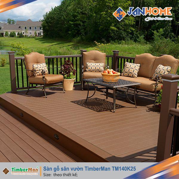 Sàn gỗ sân vườn TimberMan TM140K25